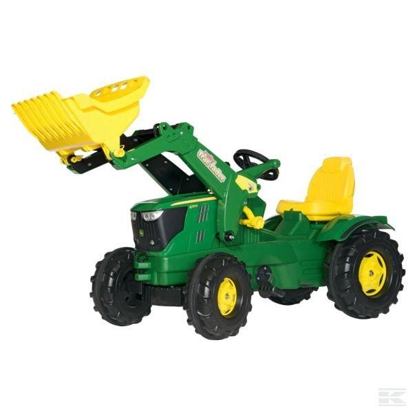Rolly Toys John Deere 6210 R mit Frontlader