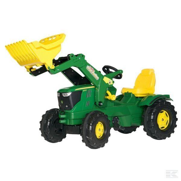 Rolly Toys John Deere 6210 R mit Frontlader